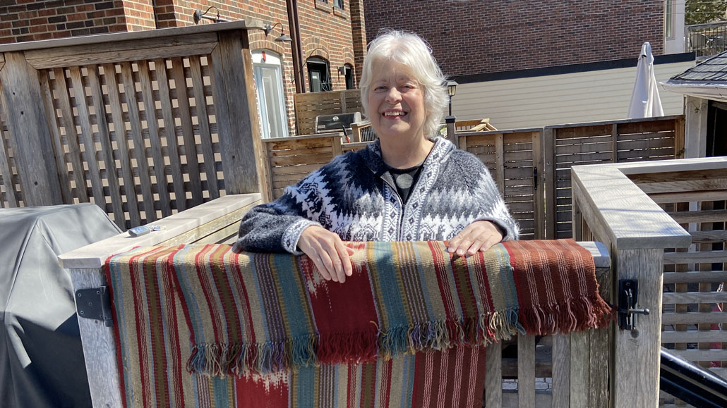 Judy Hardy gives the gift of life to a neighbour