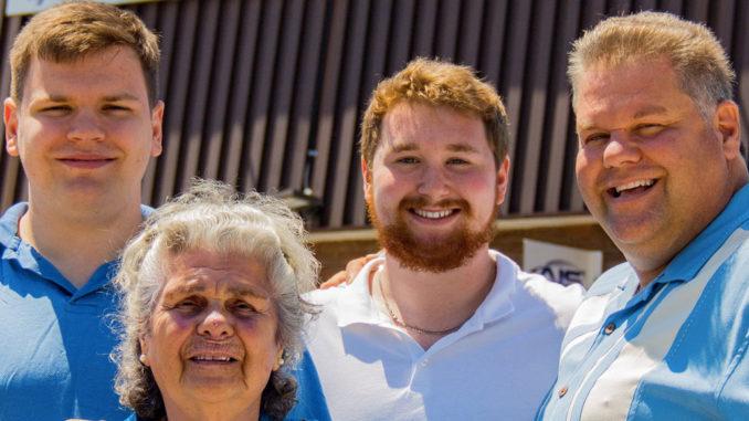 Anthony Picilaidis (right), sons John and Stephen (back) & Anthony's mother, Katarina (front). Photo by Stephen Picilaidis Sharpmediainc.
