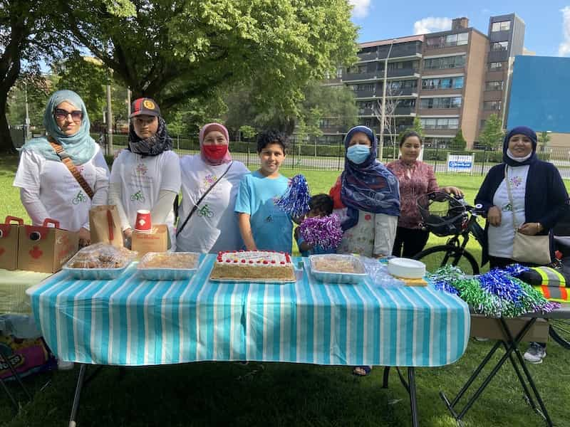 Tour de Thorncliffe Kick-off Day - July 10th. Photo credit: Holly Reid.