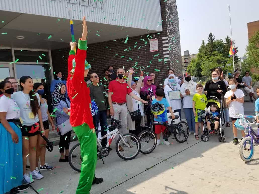 Celebrating the success of the first Tour de Thorncliffe. Photo credit: TPASN.