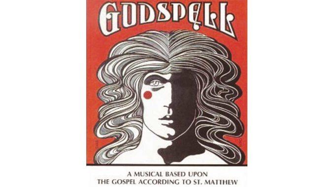 Godspell theatre poster.