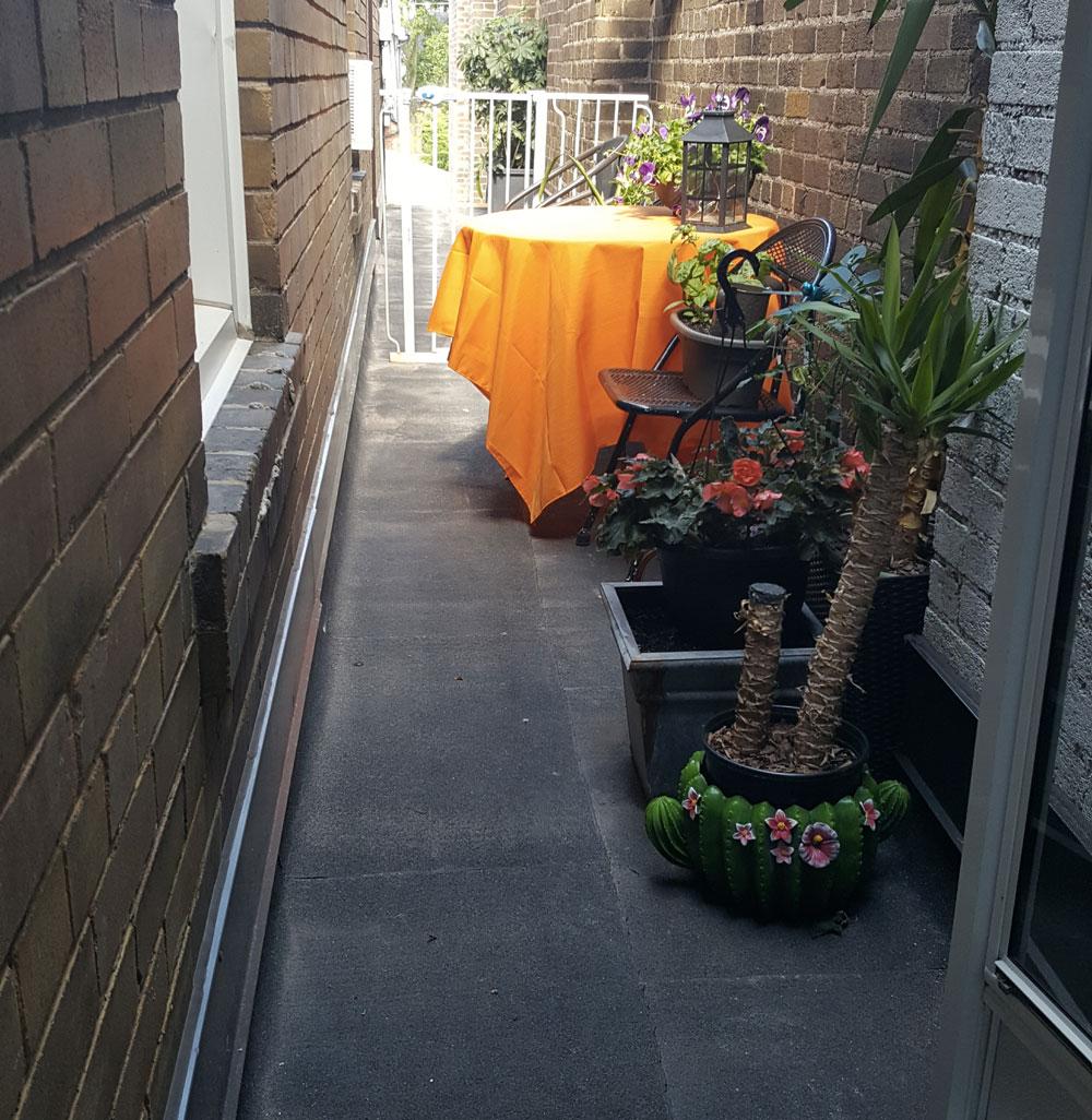 Jennifer Peattie's rooftop garden.