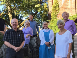 Pictured here are Ian Beverley, Tim Sellers, Linda Prue, Michael Wissell, the Rev. Canon Janet Read-Hockin, Jane Milligan, Chris Vyse. Absent: Pierina Mevius, Mary Lynne Stewart and Guy Stevenson.