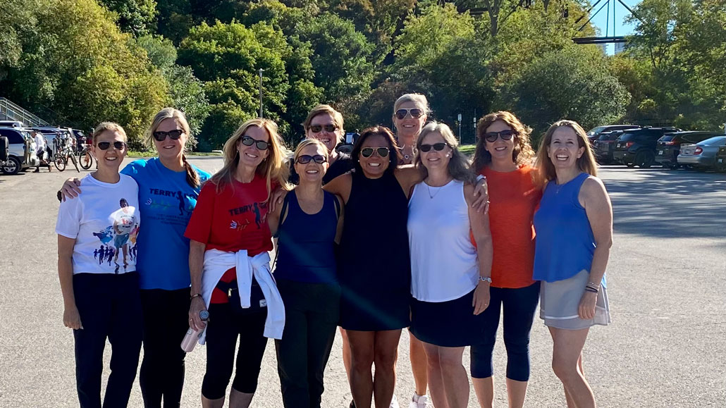 Photo of The moms of the Leaside 99A Flames participated as a team in the Terry Fox Run.
