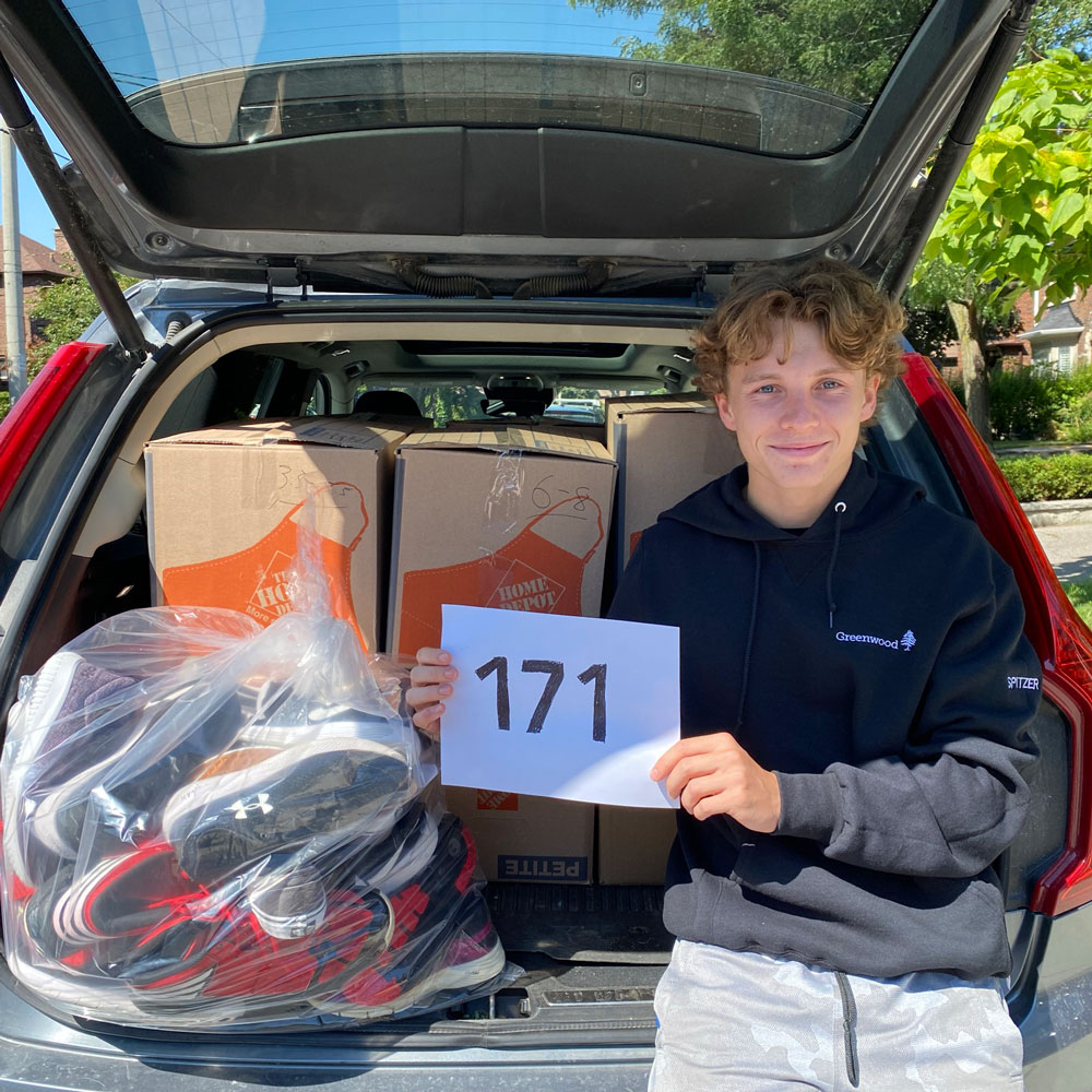 Photo of Leaside resident Ryan Spitzer, who continued the local shoe drive.