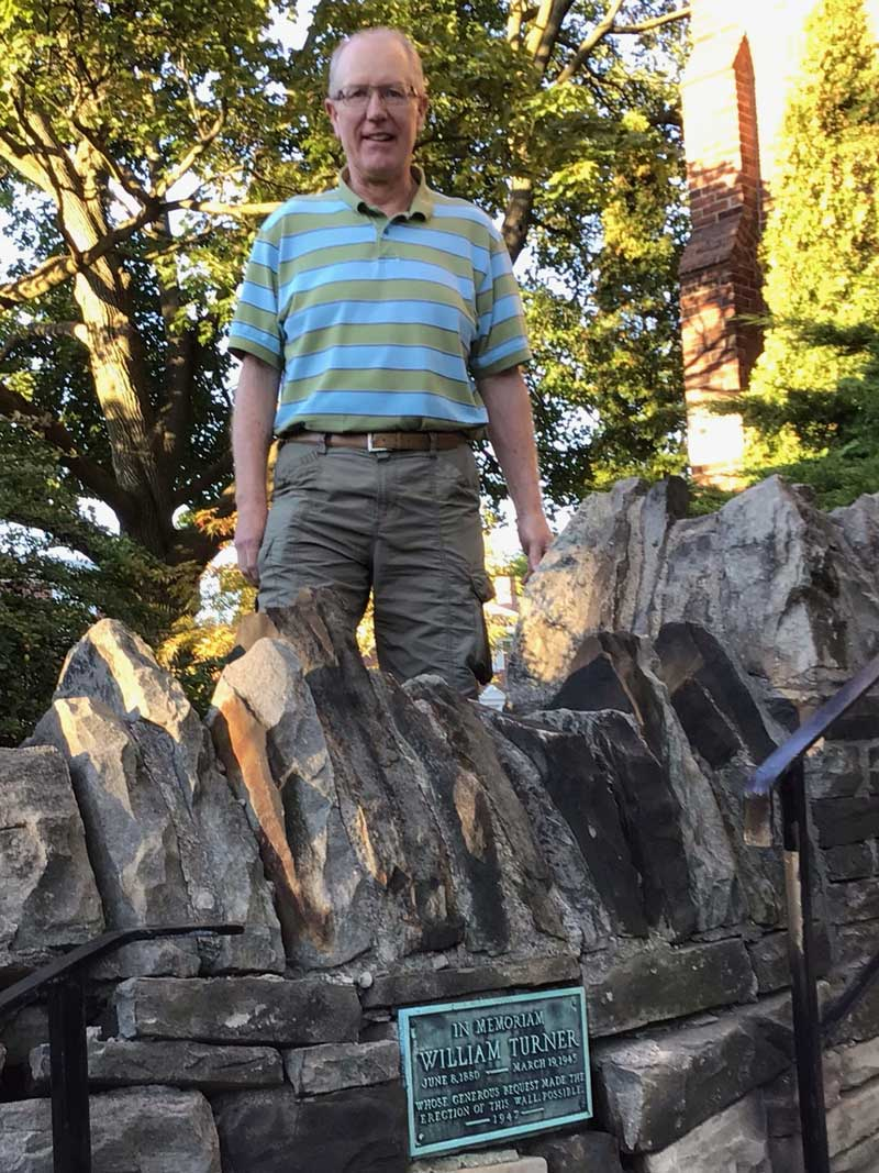 Tim Sellers' grandfather Alf was the stone mason for the original wall. Photo was taken by Lorna Krawchuk.