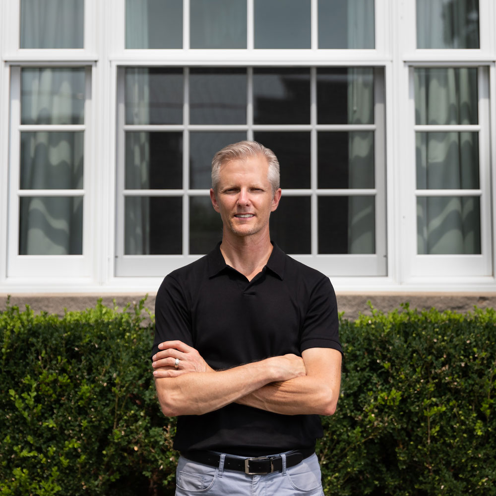 Photo of Bill Meek, owner of Meek Design & Construction, a home renovation business.