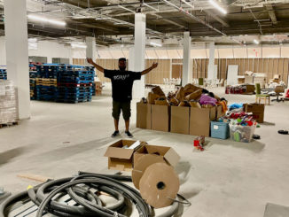 Aamir Sukhera of The Neighbourhood Organization (TNO) Trades Connect program at their new facility in the East York Town Centre. Photo by Glenn Asano.