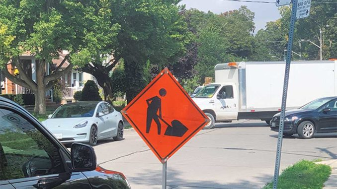 Construction in Leaside. Photo by Robin Dickie.