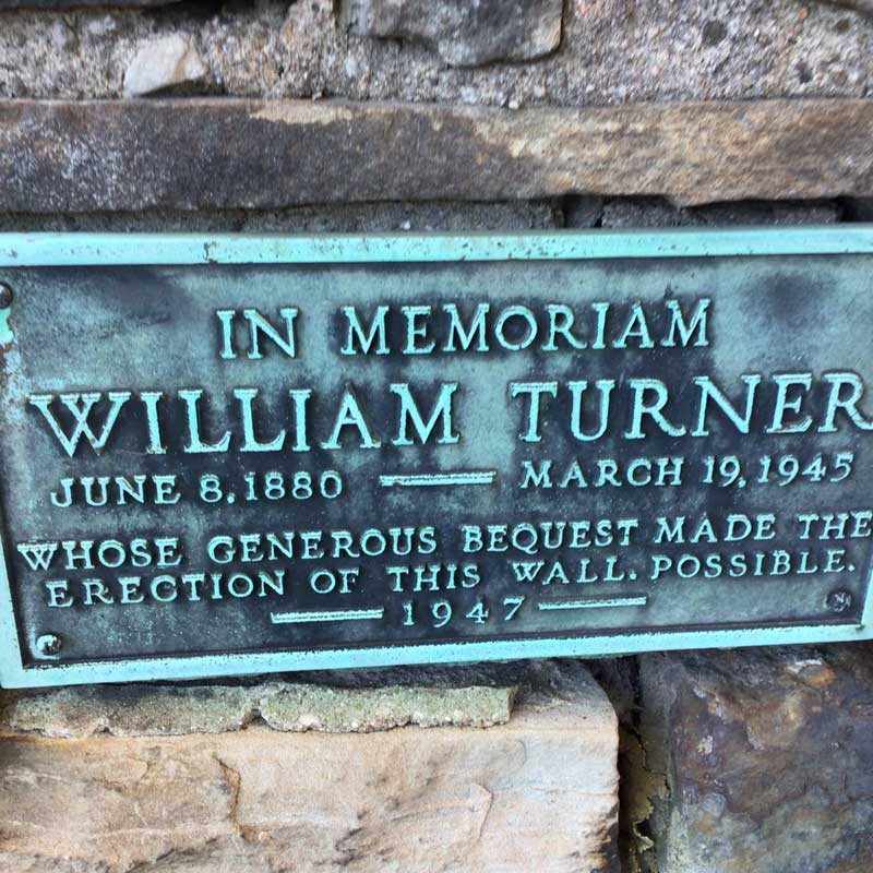 Check out the old stone wall and plaque next time you are on Bayview.